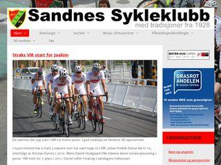 Earlier screenshot of sandnes-sykleklubb.no