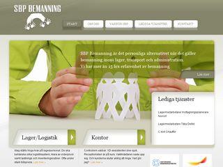 Earlier screenshot of sbpbemanning.se