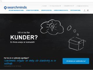 Earlier screenshot of searchminds.se