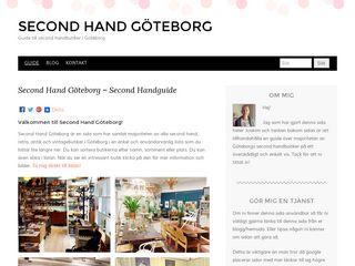 Earlier screenshot of secondhandgbg.se