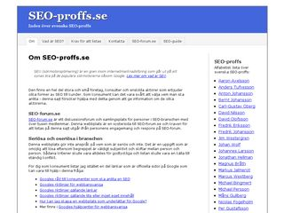 Earlier screenshot of seo-proffs.se