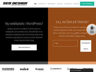 Earlier screenshot of seodesign.se