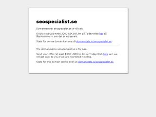 Earlier screenshot of seospecialist.se