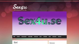Earlier screenshot of sex4u.se