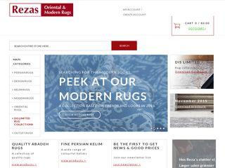 Earlier screenshot of shop-reza.dk