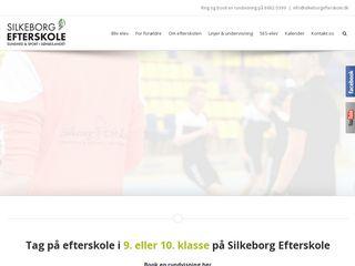 Earlier screenshot of silkeborgefterskole.dk