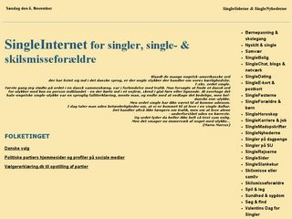 Earlier screenshot of singleinternet.dk