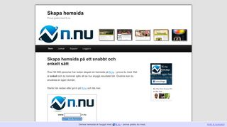 Earlier screenshot of skapahemsida.net