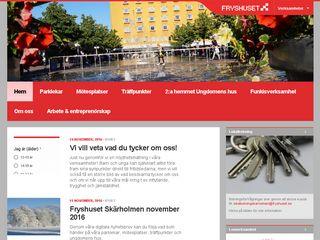 Earlier screenshot of skarholmen.fryshuset.se