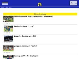 Earlier screenshot of skive-ik.dk
