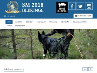 Earlier screenshot of sm2018.se