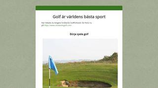 Earlier screenshot of smalandsgolf.se