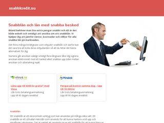 Earlier screenshot of snabbkredit.nu