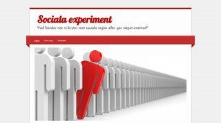 socialaexperiment.se
