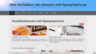 Earlier screenshot of spargrisarna.se