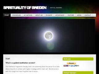 Earlier screenshot of spiritualityofsweden.se