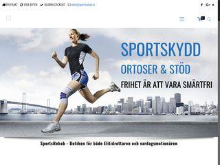 Earlier screenshot of sportsrehab.se