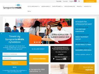 Earlier screenshot of sprogcentermidt.dk