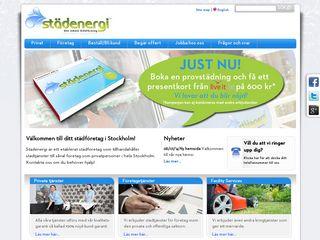 Earlier screenshot of stadenergi.se