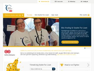 Earlier screenshot of stafetforlivet.dk