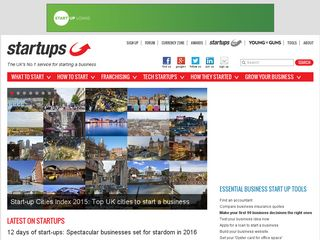 Preview of startups.co.uk