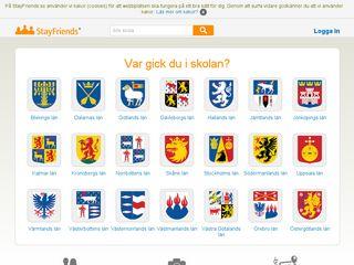 Earlier screenshot of stayfriends.se