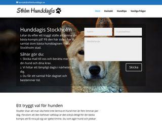 Earlier screenshot of sthlmhunddagis.se