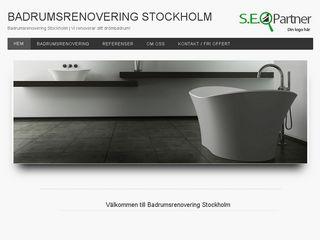 Earlier screenshot of stockholmbadrumsrenoveringar.net