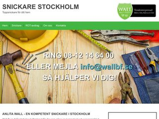 Earlier screenshot of stockholmsnickare.nu