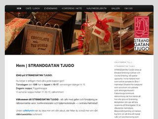 Earlier screenshot of strandgatantjugo.se
