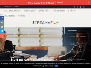 Earlier screenshot of streamafilm.nu