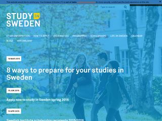 Preview of studyinsweden.se