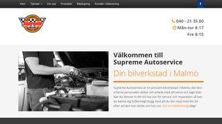 Earlier screenshot of supremeauto.se