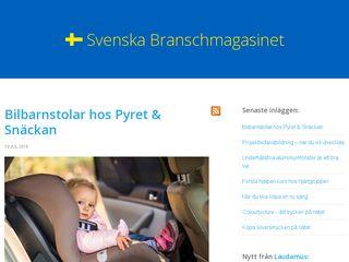 Earlier screenshot of svenska-branschmagasinet.se