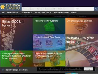 Earlier screenshot of svenskacasino.top