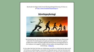 Earlier screenshot of svenskidrottspsykologi.nu