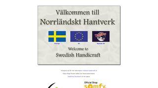 Earlier screenshot of swe-handicraft.se