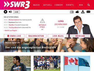Earlier screenshot of swr3.de