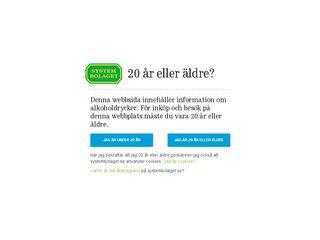 Earlier screenshot of systembolaget.se