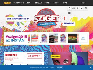 Preview of sziget.hu