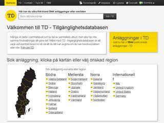 Earlier screenshot of t-d.se
