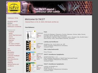 Preview of tacet.de