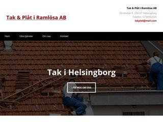 Earlier screenshot of takhelsingborg.se