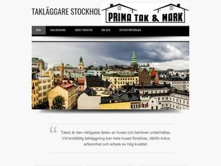 Earlier screenshot of taklaggarestockholm.nu