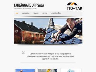 Earlier screenshot of taklaggareuppsala.nu