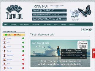Earlier screenshot of tarot.nu