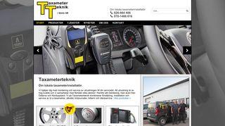 Earlier screenshot of taxameterteknik.se