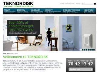 Earlier screenshot of teknordisk.dk