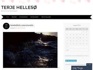 Earlier screenshot of terjehelleso.se