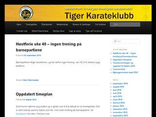 Earlier screenshot of tigerkarate.no